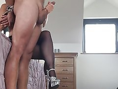 Amateur, British, Handjob, Stockings