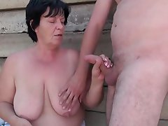 Big Boobs, Blowjob, Cuckold, Granny