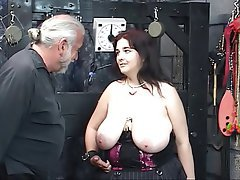 BDSM, Blowjob, Big Boobs, Brunette