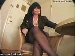Brunette, Granny, Hardcore, Mature, Stockings