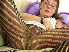 British, Granny, Mature, MILF, Stockings