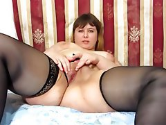 BBW, Big Butts, Blonde, Masturbation, Russian
