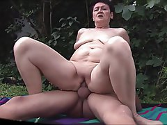 Granny, Outdoor, Cumshot, Mature