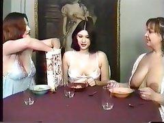 Lesbian, Threesome, Brunette, Foot Fetish, Mature