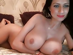 Big Boobs, British, Brunette, Masturbation, Webcam