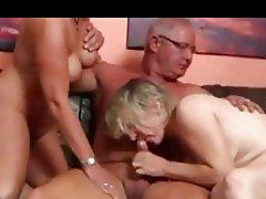 Blowjob, Cumshot, Mature, MILF, Threesome