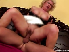 MILF, Creampie, Granny, Mature, Old and Young