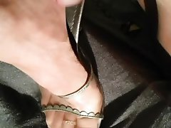 Masturbation, Mature, Stockings, Foot Fetish