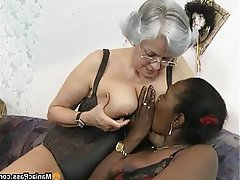 Anal, Granny, Group Sex, Mature, Stockings