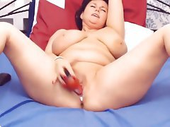 BBW, Dildo, Mature, Webcam