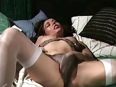 German, Lingerie, Masturbation, Stockings