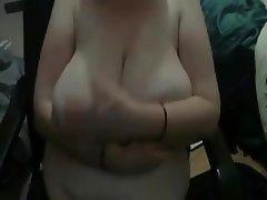 Saggy Tits, Big Boobs, Webcam, Handjob