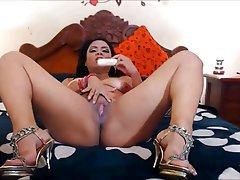 Dildo, High Heels, MILF, Webcam