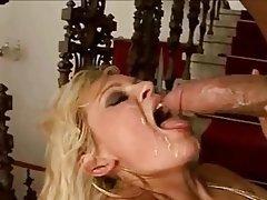 Blonde, Cum in mouth, Facial