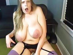 Dildo, Masturbation, Mature, Saggy Tits