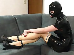 Dildo, High Heels, Latex, Piercing