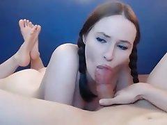 Amateur, Babe, Blowjob, Small Tits, Footjob