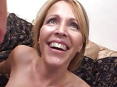 Blonde, Facial, MILF, Threesome