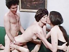 Group Sex, Hairy, Lingerie, Swinger, Vintage