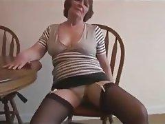 Big Boobs, Granny, Hairy, Masturbation, Stockings