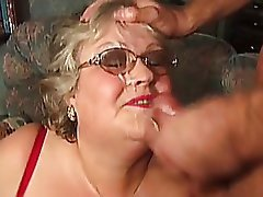 Gets Grandma cumshot slut