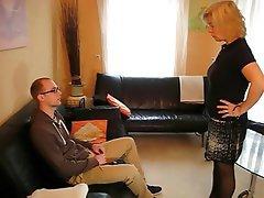 Blonde, German, Mature, Stockings