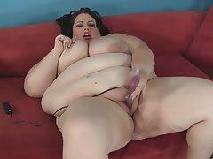 BBW, Big Boobs, Masturbation