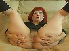 Big Boobs, Masturbation, Mature, Redhead, Softcore