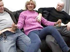 Blowjob, Facial, German, Granny