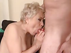 Blonde, Facial, Granny, Mature, Small Tits