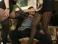 Mature, MILF, Stockings, Threesome