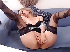 Lingerie, Masturbation, Mature, Stockings, Webcam