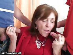 Granny, Mature, Old and Young, Threesome