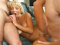 Blowjob, Creampie, Threesome, Granny