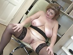Big Boobs, Granny, Mature, MILF, Stockings
